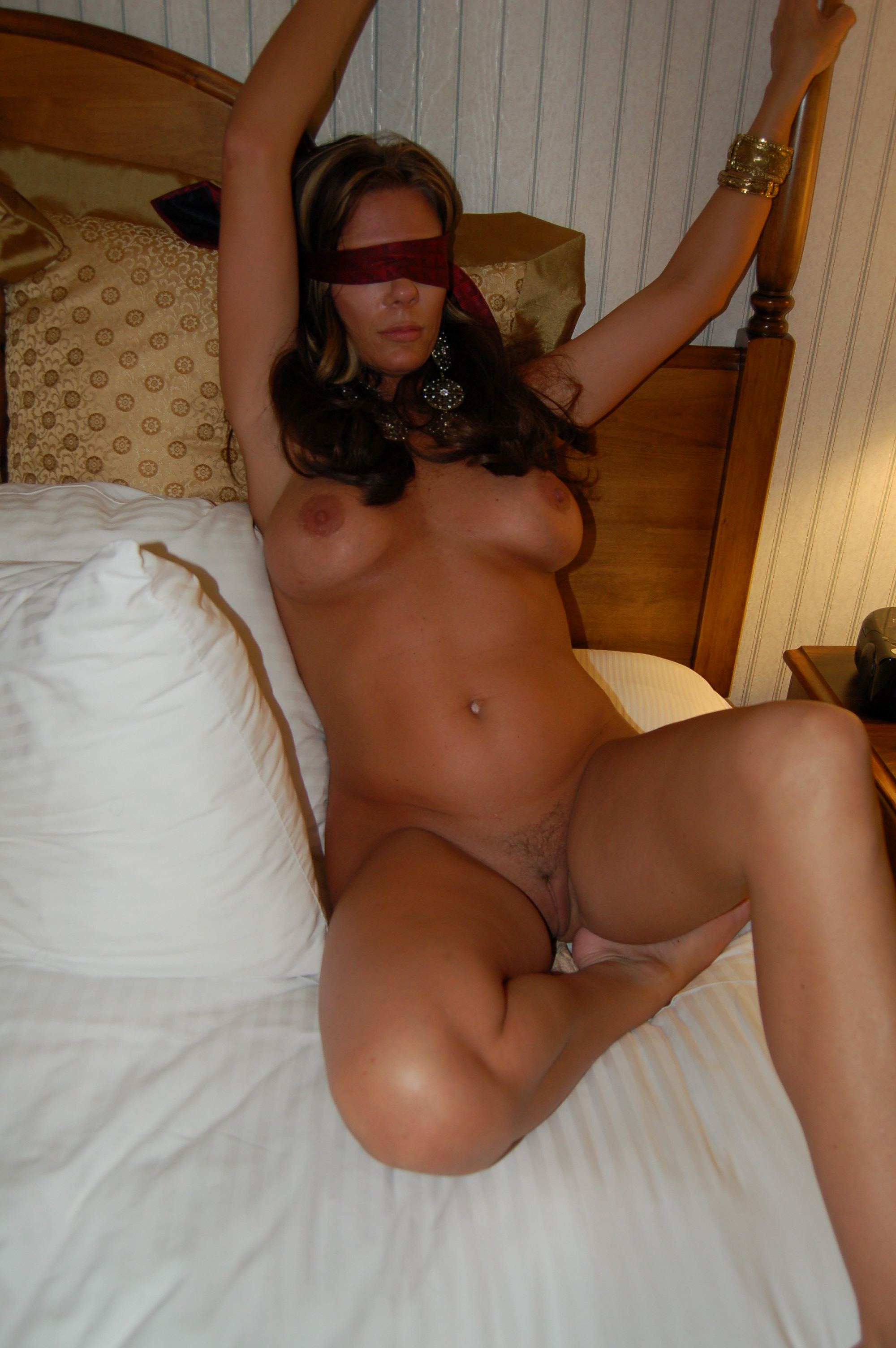 Hot milf showing off red