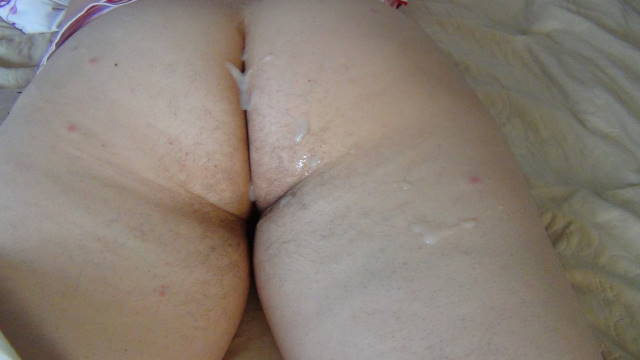 Cum on wife ass
