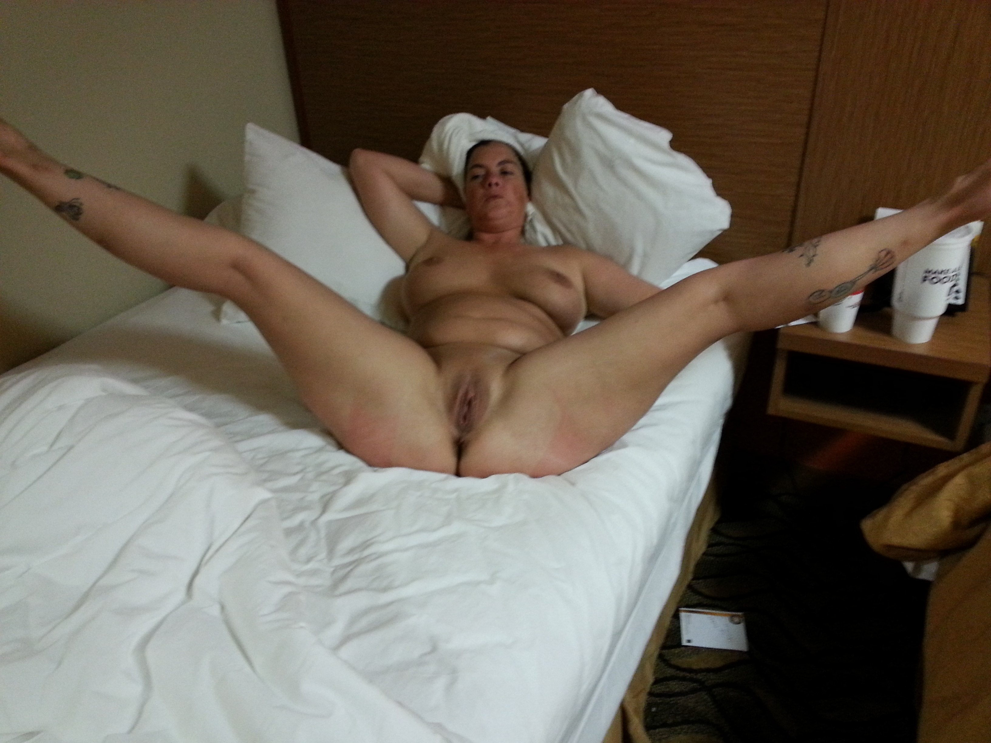 Simply Mature nude spread on bed