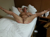 Milf spread wide for bbc