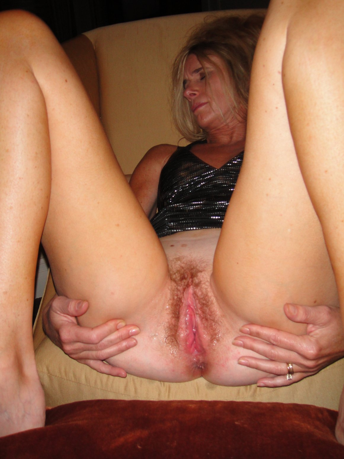 Amateur blonde wife creampie agree, useful