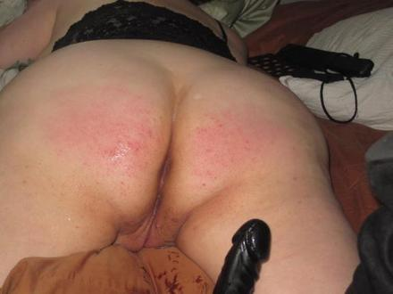 Naughty BBW Slut Wife's Punished Ass