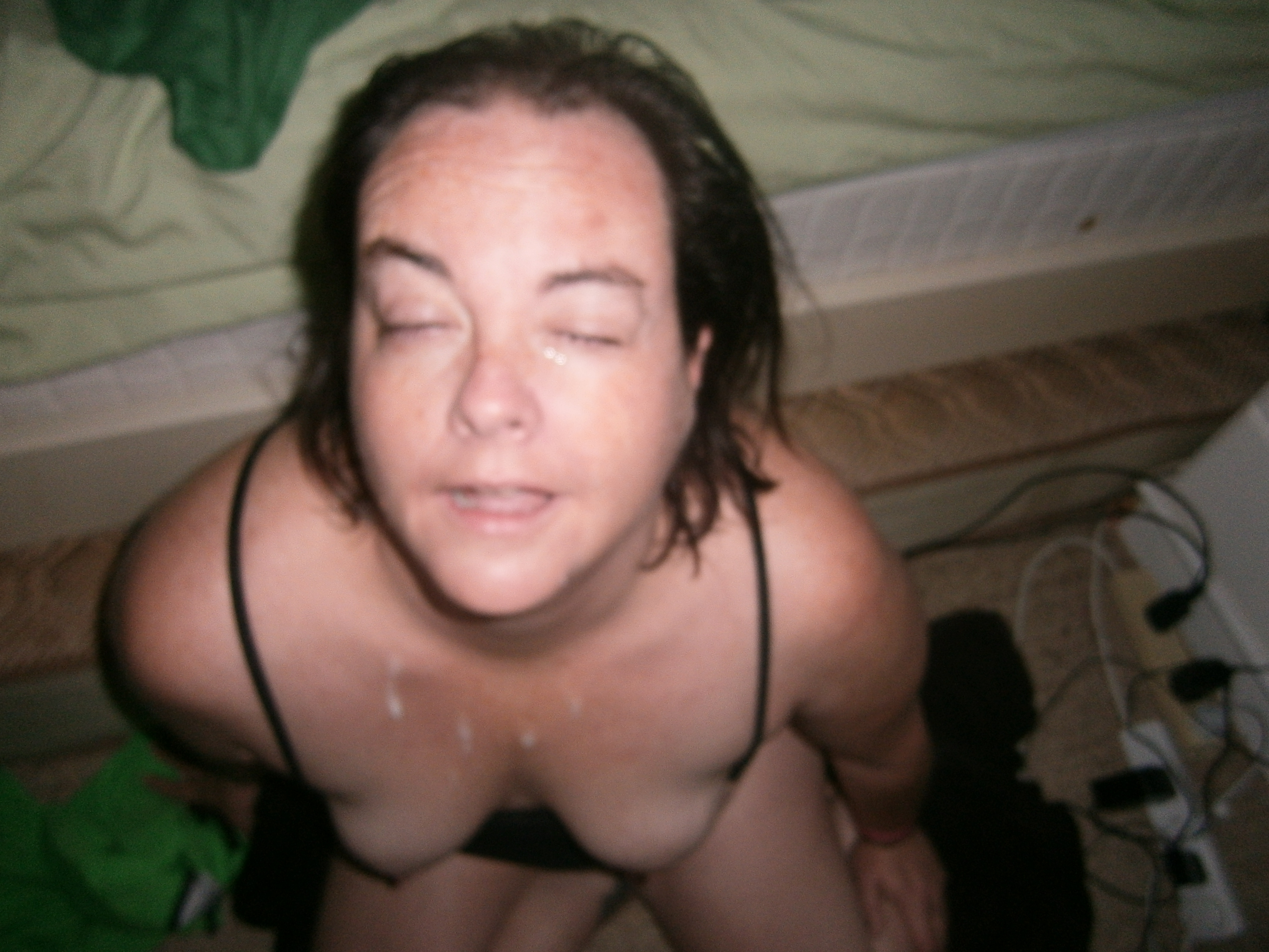 Cum face wife