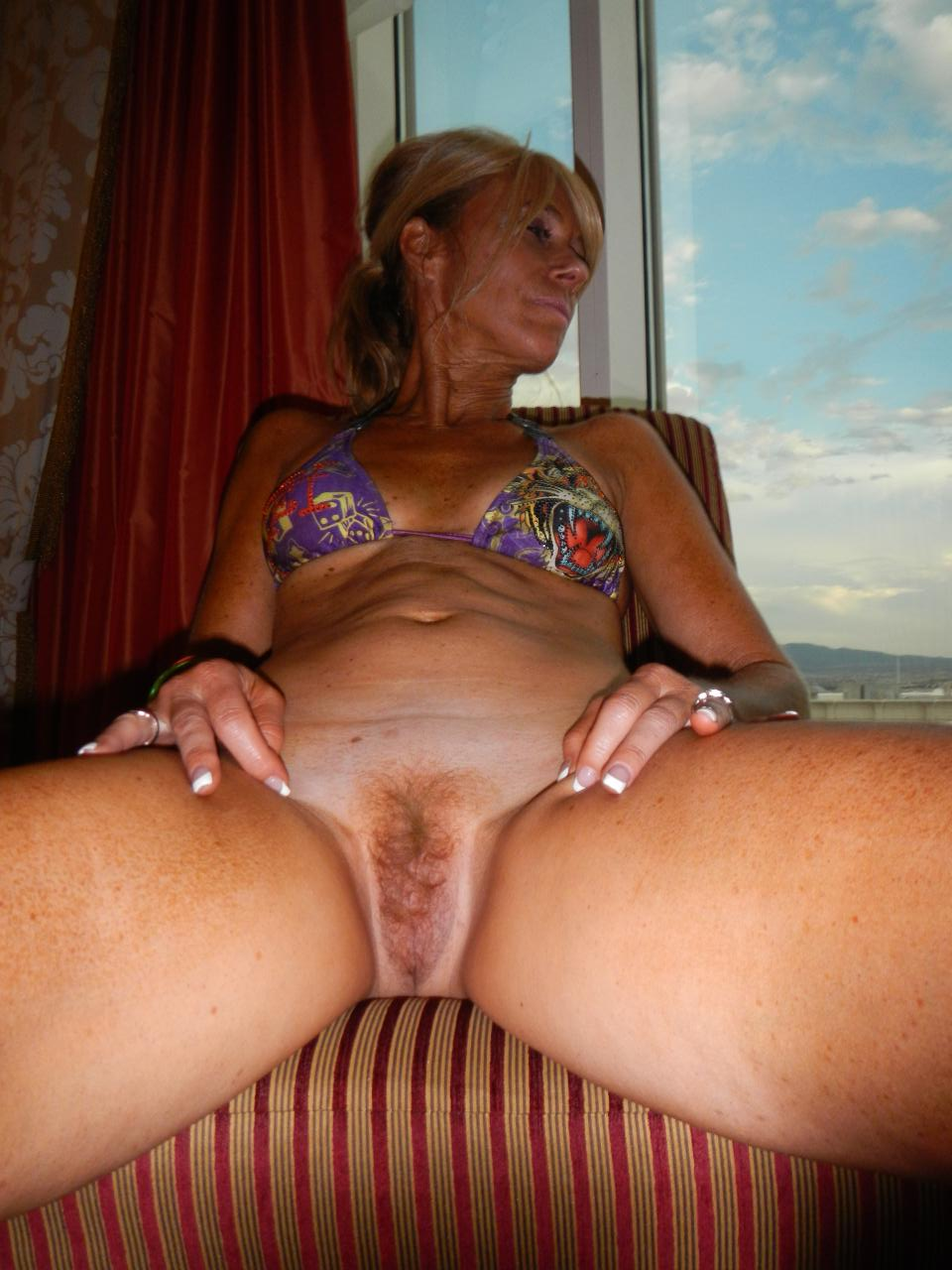 Hairy amateur milf with great hangers fucked