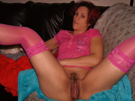 Wearing pink showing off my pink pussy