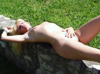 Exposed slut and exhibitionist milf Coco outdoor