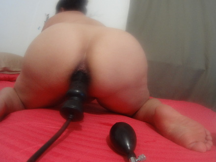 My asain anal queen training her ass for me