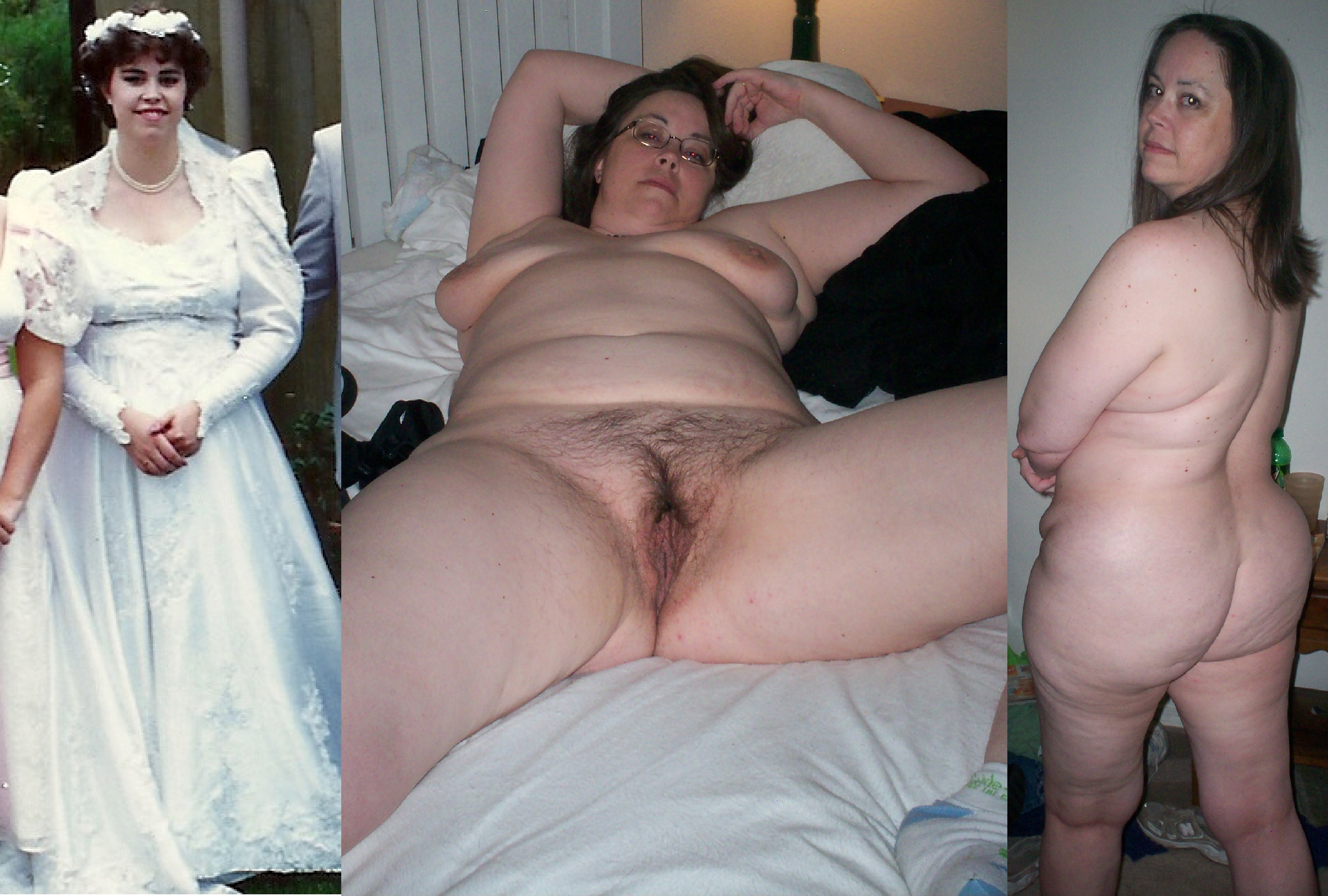 nude amateur bbw dressed undressed